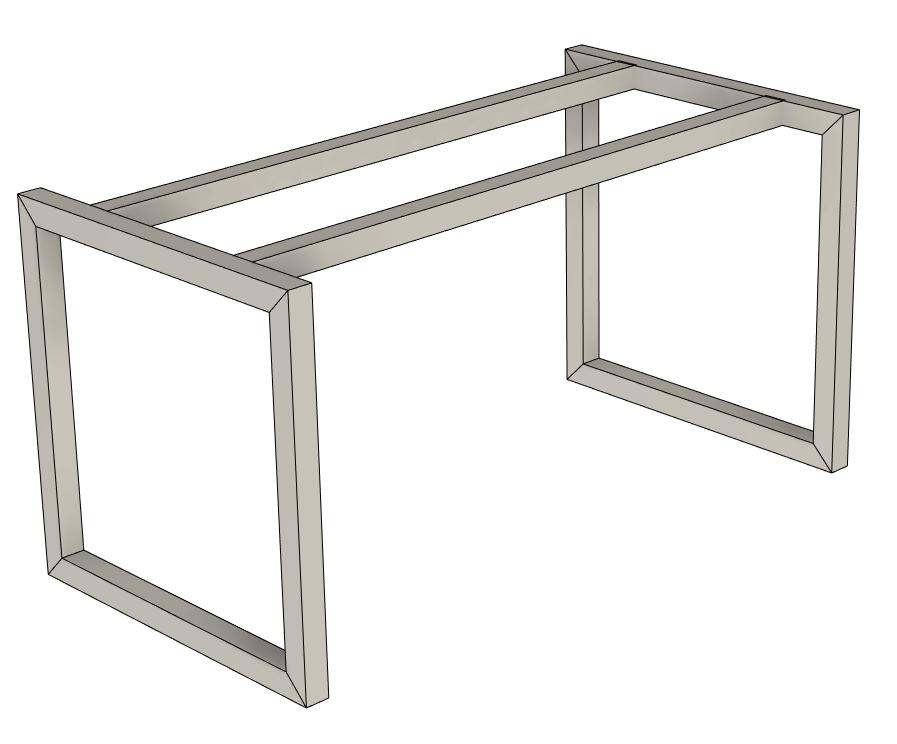 stůl libero frame typ napojení D - kovová podnož