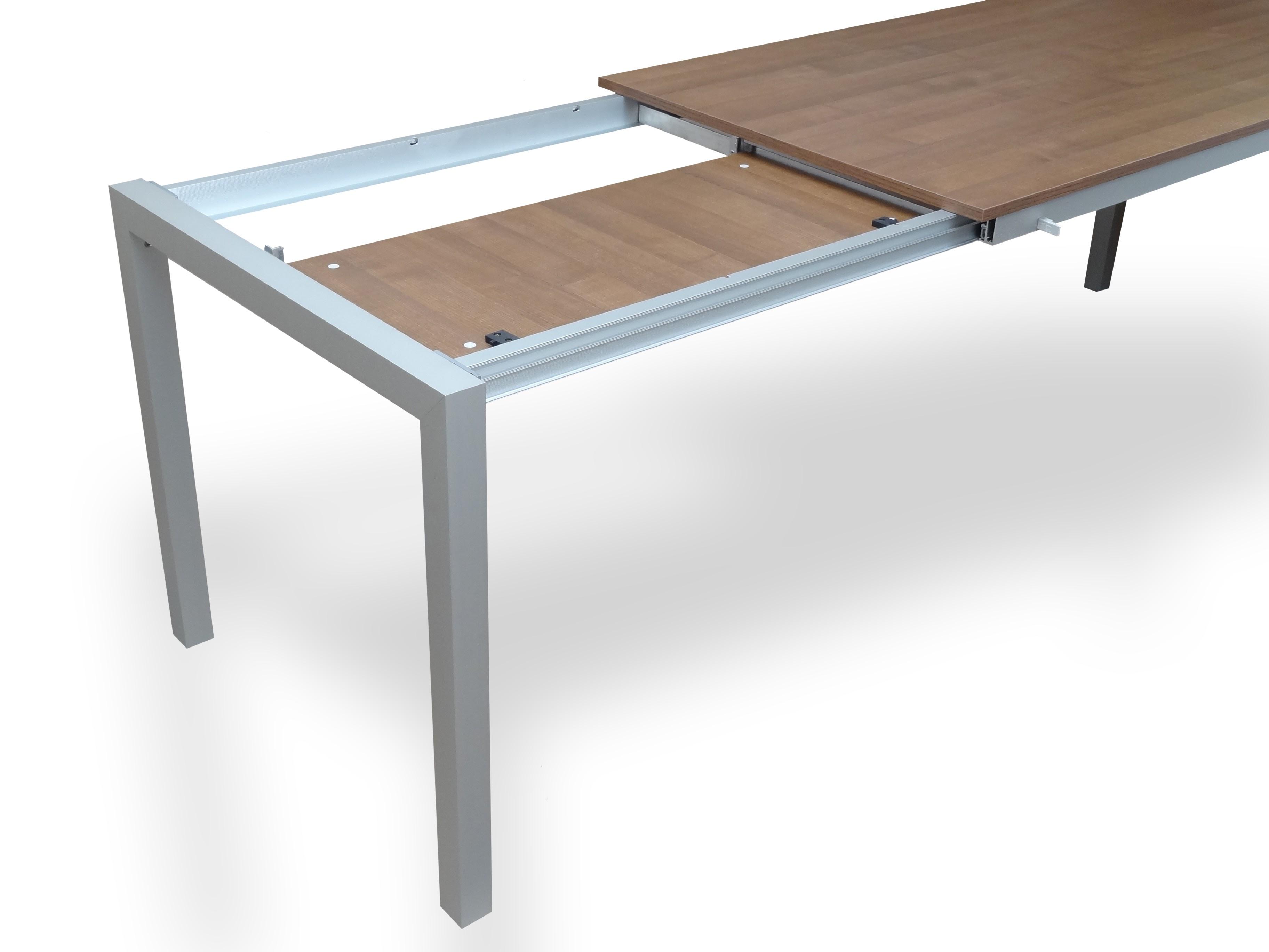 hliníkový rozkládací stůl na míru DUETTO
