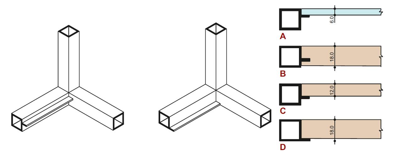 Alfa Base stavebnicový systém - detail polička